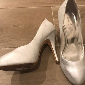 Vince Camuto pearl white pumps